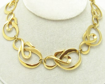Wide Vintage Necklace Avon Chain Jewelry N6640