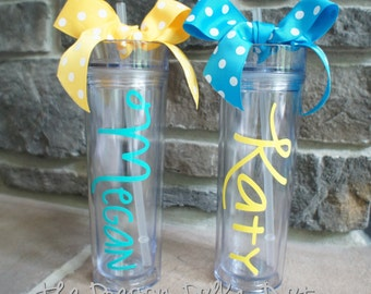 Personalized Skinny Tumbler - 15 oz