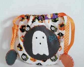 Drawstring Bag trick or treat ghost