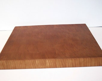 End Grain Cutting Board / Chopping Block Handcrafted from Cherry Hardwood
