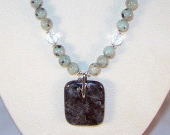 Labradorite and Sesame Jasper Necklace