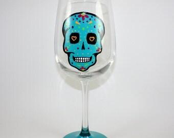 Sugar Skull / BLUE / Day of The Dead / Dia De Los Muertos