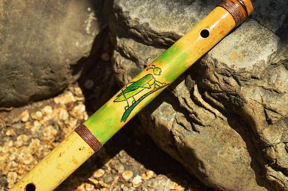 23.1 Inch custom Kung Fu Grasshopper bamboo flute