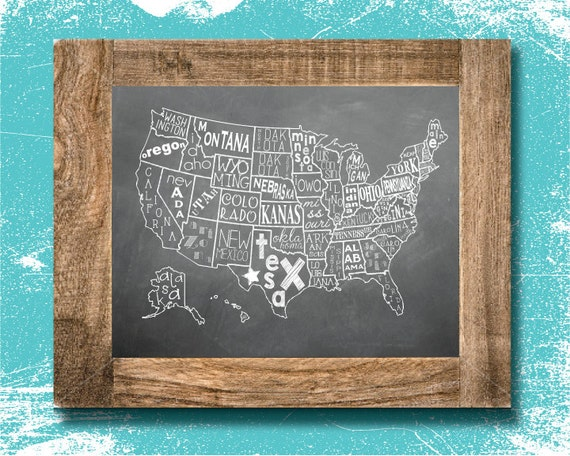 map wall art map home decor united states america. Black Bedroom Furniture Sets. Home Design Ideas