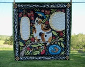 Catkin Feline Quilted Wall Hanging Housewares Handmade