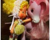 Cute Lolita Bubble Dress set for Vintage Strawberry Shortcake Lemon Meringue