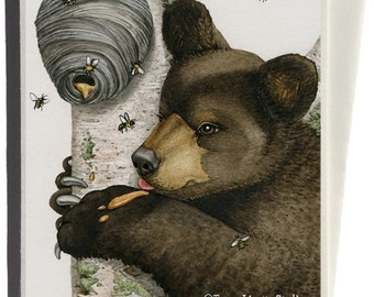 Honey Bear Greeting Card by Tracy Lizotte