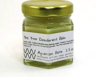 Tea Tree Deodorant Balm - Natural Deodorant - Organic Deodorant - Aluminum Free deodorant - Vegan 1.5 oz