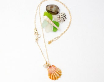 Hello Sunnie with Keishi Pearl - 14K Gold Filled Necklace