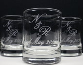 48 Personalized Favors Engraved Glass Candle Holders Custom Names and Date Wedding Decor Glass Keepsake Table Decor