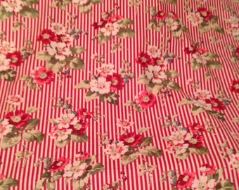 Chateaux Rococo by Robyn Pandolph Red Stripe Floral Fabric