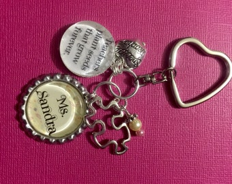 Personalized Teacher Gift/Appreciation Key Chain
