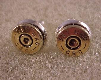 Bullet Earrings 357 Magnum