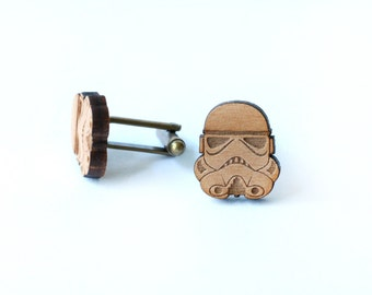 Star Wars cufflinks and tie tack/lapel pin set - Storm Trooper and Imperial Forces