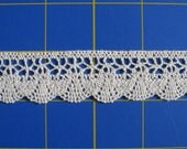 """PrintedonCanvas ... Custom Order for 11 yards Machine Crocheted Lace Trim 1"""" wide Natural, Ivory or Beige Very Pretty Cotton"""