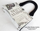 Grays Anatomy Recycled Book Purse - Medical Field Book Purse - RN Unique Gift