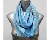 Blue Scarf, Hipster Scarf, Light Blue Loop scarf, Light Blue Loop scarves, Circle Scarves, Light Blue Tube Scarves, Loop Scarf, Cowl