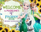 "16""x20"" CUSTOMIZED Frozen Fever Birthday Poster PRINTABLE ( Digital File )"
