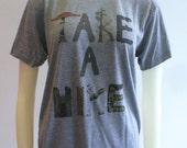 OOAK Take a Hike Tee Grey