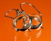 Spiked Silver hoop earrings