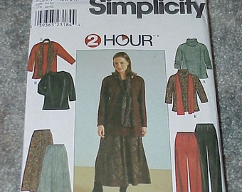 Simplicity Sewing Pattern 8805--Women's Top-Skirt-Pants & Scarf--Sizes 18W To 24W--Uncut--Unused