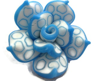 25mm Polymer Clay Rose Beads Set of Three (R07)