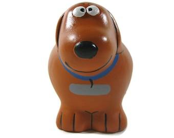 Karat the Dog Bank Hand Painted Ceramic Dog Piggy Bank