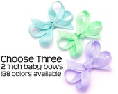 2 Inch Baby Bows, Choose Your Colors, Baby Hair Bows, Boutique Bows, No Slip Baby Snap Clips, Infant Hair Bows, 138 Colors