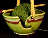 Yarn Bowl - Knitting Bowl - Green Yarn Bowl - Gift for Her - Yarn Bowl Ceramic - Ceramic Yarn Bowl - Yarn Basket - YarnBowl -InStock