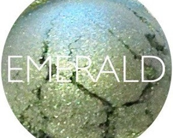 Emerald Mineral Eyeshadow • Vegan and Gluten-Free Mineral Makeup • Earth Mineral Cosmetics