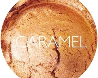 Caramel Mineral Eyeshadow • Vegan and Gluten Free Mineral  Makeup • Earth Mineral Cosmetics
