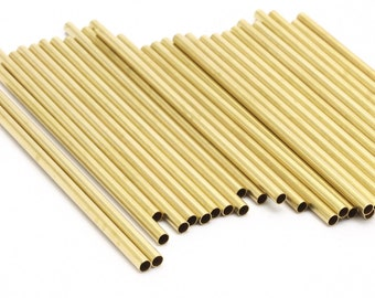 12 Raw Brass Tubes (3x80mm) Bs 1447