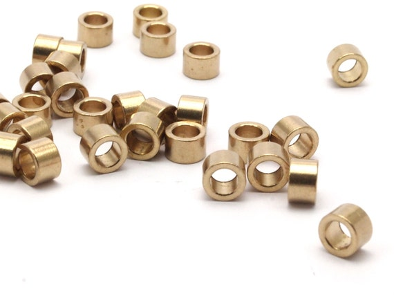 Industrial spacer bead raw brass tubes