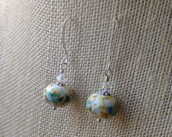 Sunny Skies lampwork earrings