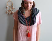 Pink Lace Striped Hooded ...