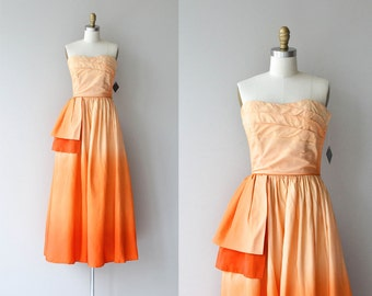 Alba Tramonto dress | vintage 1950s dress • strapless ombre 50s party dress