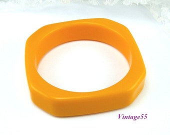 Bangle Bracelet Solid Plastic Butterscotch