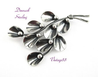 N E From Brooch Sterling Danish Modern Neils Erik From