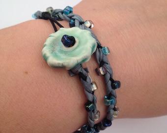 Silk Wrap Bracelet Single Bracelet DIY Kit Materials for One Adult Friendship Bracelet DIY Craft Kit Beaded Bracelet