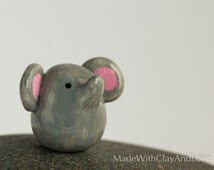 Little Elephant - Terrarium Figurine Miniature Polymer Clay Animal - Hand Sculpted