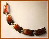 BURNISHED Hues-KAY DENNING Slim Enamel Bracelet,Signed,Vintage Jewelry,Women
