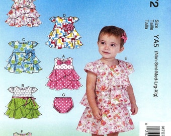 BABY GIRL PATTERN / Make Dress and Panties / Sizes Newborn to Extra Large / Summer Clothes