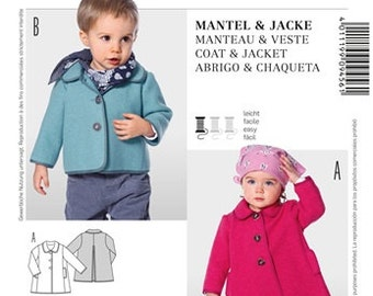 BABY COAT PATTERN / Make Coat or Jacket for Boys and Girls / Size 6 Month to 3 Years