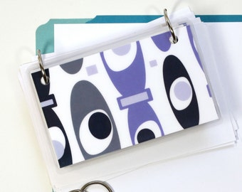 3 x 5 Index Card or Note Card Binder, Purple Blob Mix