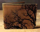 wallet - leather wallet - mens wallet - tree wallet