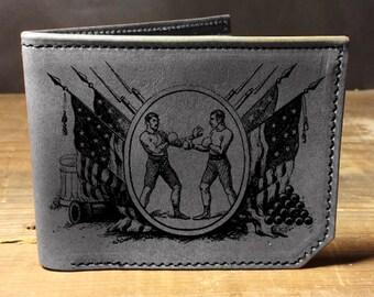 wallet - leather wallet - mens wallet - Backerton Boxers wallet - 020