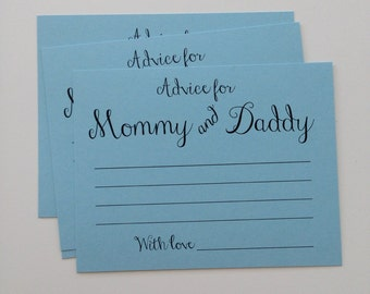 Advice for Mommy and Daddy, Advice for Mommy and Daddy to be, Advice for Baby, Advice cards