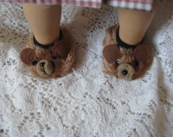 American Girl Teddy  Bear Slippers  for any eighteen Inch Doll