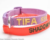 Personalized Safety Cat Collar/You pick Color/15 Colors/Breakaway Collar