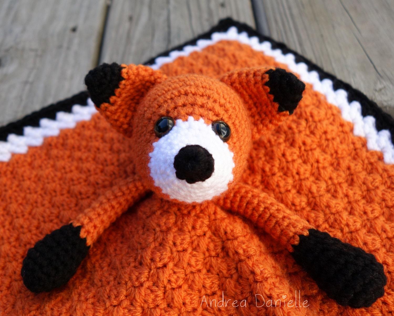 Flynn The Fox Crochet Lovey Security Blanket By